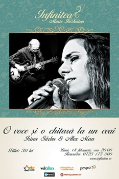 Concert Irina Sarbu si Alex Man la Infinitea din Bucuresti