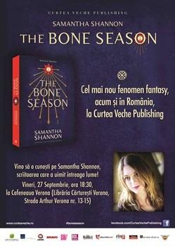"""""""Noua J. K. Rowling"""" lanseaza """"The Bone Season"""" la Bucuresti"""