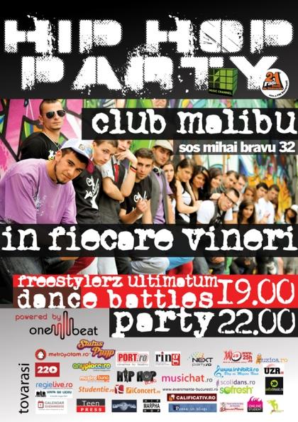 Street dance si muzica hip hop in Club Malibu, vineri!
