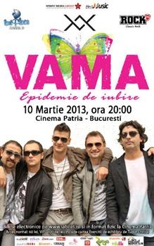 Concert VAMA la Cinema Patria din Bucuresti