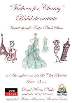 "Liceul ""Marin Preda"" organizeaza ""Fashion for Charity"""